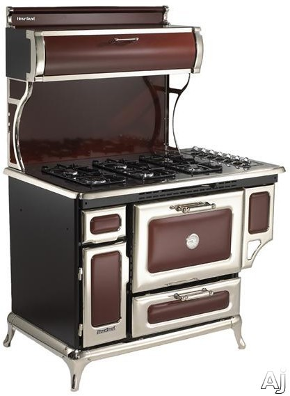 Heartland Classic Collection 720000GCRN 48 Inch Freestanding Gas Range with 6 Sealed Burners, 3.6 cu. ft. Manual Clean Oven, 16,500 BTU Bake/Broil Burner, Storage Compartment, Concealed Electronic Con