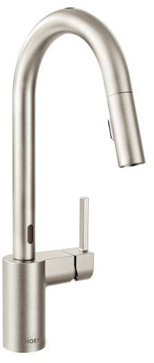 Picture of Moen Align 7565X Single Handle Kitchen Pull-Down Faucet with 2 Function SprayStream Spout Reflex System and Duralock Quick Connect System