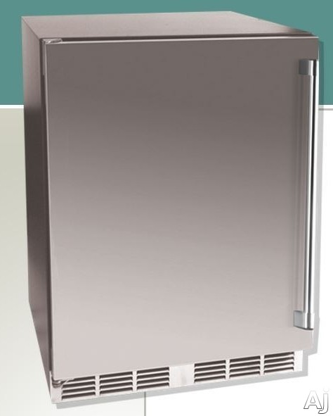 Vintage HS24TO1L1L 24 Inch Fully Integrated Outdoor Refrigerator with 53 cu ft Capacity 2 Pullout Shelves 770 BTU Compressor Door Lock and Stainless Steel Interior Left Hinge Door Swing