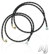 Whirlpool 8212638RP 6' Gooseneck Nylon Braid Fill Hoses with 90 Degree Elbow, 2 Pack, U.S. & Canada 8212638RP