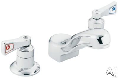 Moen 8220 Double Lever Lavatory Faucet With 5 1 2 Reach 4 3 16 Height Ceramic Disc Cartridge