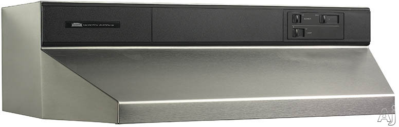 Broan 88000 Series 8842 42 Inch Under Cabinet Range Hood with 360 CFM Internal Blower, Infinite Speed Slide Controls, Standard Heat Sentry, 2 Washable Aluminum Filters and Convertible to Recirculating