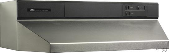 Broan 88000 Series 883604 36 Inch Under Cabinet Range Hood with 360 CFM Internal Blower and Standard Heat Sentry: Stainless Steel