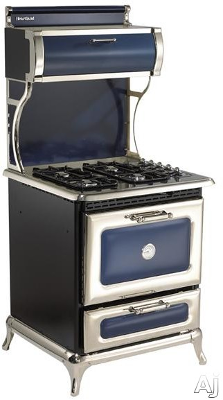 Heartland Classic Collection 920000GCBL 30 Inch Freestanding Gas Range with 4 Sealed Burners, 3.6 cu. ft. Manual Clean Oven, 16,500 BTU Bake/Broil Burner, Concealed Electronic Control Panel and 350 CF