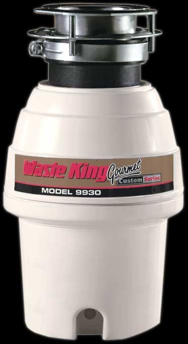 Waste King Legend 3 Bolt Mount Series 9930 1/2 HP Continuous Feed Waste Disposer with 2600 RPM Magnet Motor, Stainless Steel Grinding Components, 3-Bolt Mount System, Included Power Cord and 5 Years In-Home Service Warranty