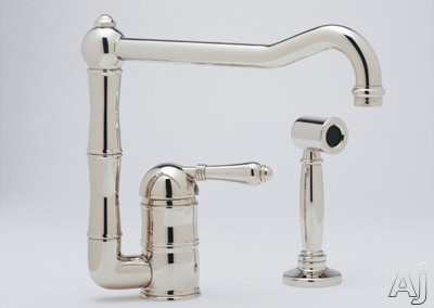 Rohl Country Kitchen Collection A360811LMWSTCB2 Single Lever Cast Spout Kitchen Faucet with, U.S. & Canada A360811LMWSTCB2