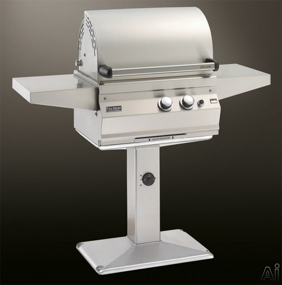 """Fire Magic Aurora Collection A430S1A1P6 56"""" Patio Post Mount Gas Grill with 432 sq. in. Cooking, U.S. & Canada A430S1A1P6"""