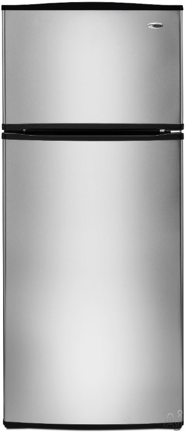Amana A8RXNGFBS 17.6 cu. ft. Top Freezer Refrigerator with 3 Spillsaver Glass Shelves, 2 Garden Fresh Crispers, Deli Drawer, Reversible Door Swing and Up-Front