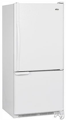Amana Easy Reach ABB1921DEW 18.5 cu. ft. Freestanding Bottom-Freezer Refrigerator with 3 Adjustable Glass Shelves, 2 Clear Humidity-Controlled Crispers and Free