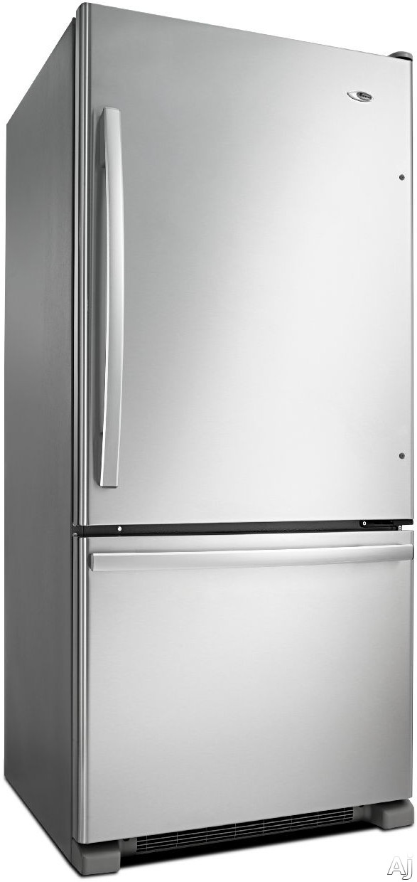 Amana ABB1924BRM 185 cu ft Bottom Freezer Refrigerator with Spillsaver Glass Shelves Two Crisper Drawers Temp Assure Freshness Controls Gallon Door Storage and Pull Out Freezer Drawer Stainless Steel