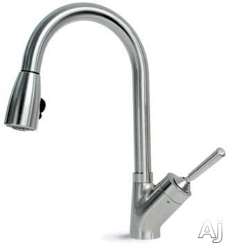 hamat 33369 single lever pull down kitchen faucet with 8 3