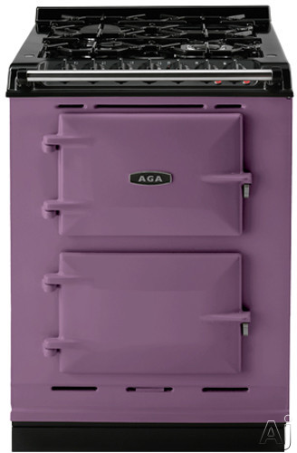Picture of AGA ACMPLPAUB 24 Inch Cast-Iron Companion Dual Fuel Range with Liquid Propane Manual Clean 4 Sealed Burners Slow Cook Oven Roasting Oven and Two Electric Ovens Aubergine