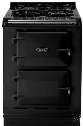 "AGA ACMPLPBLK 24"" Cast-Iron Companion Dual Fuel Range with Liquid Propane, Manual Clean, 4 Sealed, U.S. & Canada ACMPLPBLK"