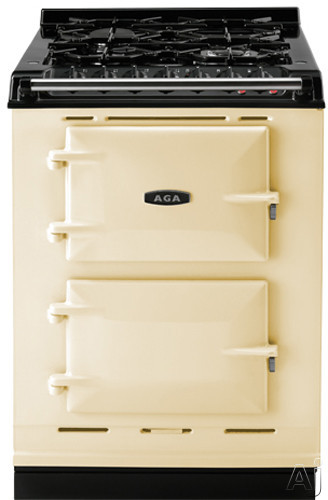 Picture of AGA ACMPLPCRM 24 Inch Cast-Iron Companion Dual Fuel Range with Liquid Propane Manual Clean 4 Sealed Burners Slow Cook Oven Roasting Oven and Two Electric Ovens Cream