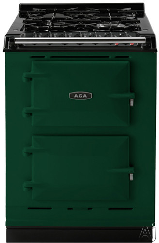 Picture of AGA ACMPLPBRG 24 Inch Cast-Iron Companion Dual Fuel Range with Liquid Propane Manual Clean 4 Sealed Burners Slow Cook Oven Roasting Oven and Two Electric Ovens British Racing Green