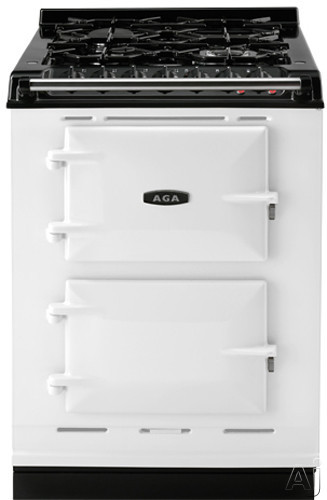 Picture of AGA ACMPLP 24 Inch Cast-Iron Companion Dual Fuel Range with Liquid Propane Manual Clean 4 Sealed Burners Slow Cook Oven Roasting Oven and Two Electric Ovens
