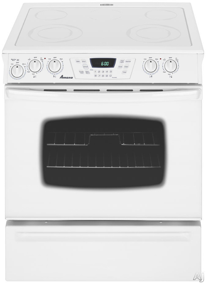 Amana Aes5730baf 30 Quot Slide In Electric Range With 4