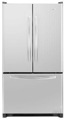 Amana AFD2535FES 25.0 cu. ft. Freestanding French Door Refrigerator with 2 Easy Glide Shelves, Adjustable Door Bins, Internal Water Dispenser and Ice Maker: Sta