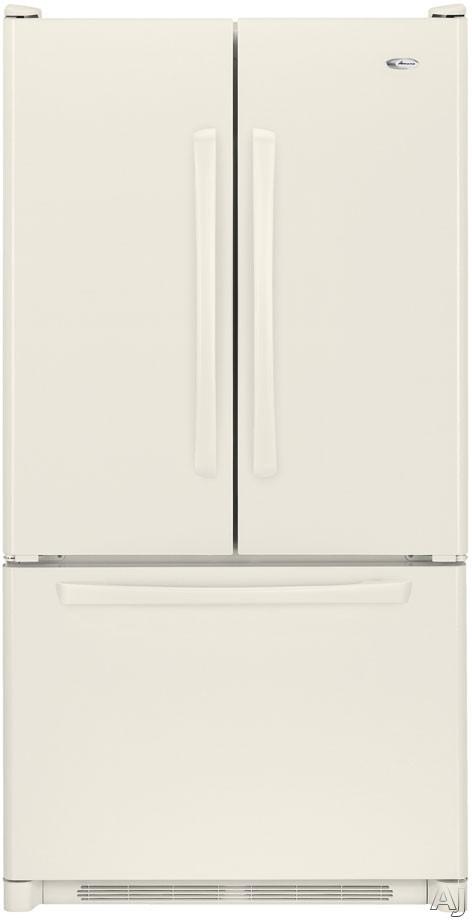 Amana AFD2535DEQ 25.0 cu. ft. Freestanding French Door Refrigerator with 2 Easy Glide Shelves, Adjustable Door Bins, Internal Water Dispenser and Ice Maker: Bis