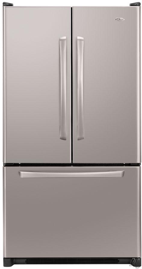 Amana AFD2535DE 25.0 cu. ft. Freestanding French Door Refrigerator with 2 Easy Glide Shelves, Adjustable Door Bins, Internal Water Dispenser and Ice Maker
