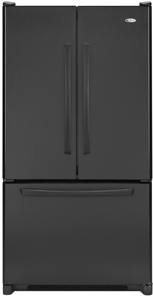 Amana AFF2534FEB 24.8 cu. ft. Freestanding French Door Refrigerator with Adjustable SpillSaver Glass Shelves, Humidity-Controlled Crispers and Freezer Baskets: