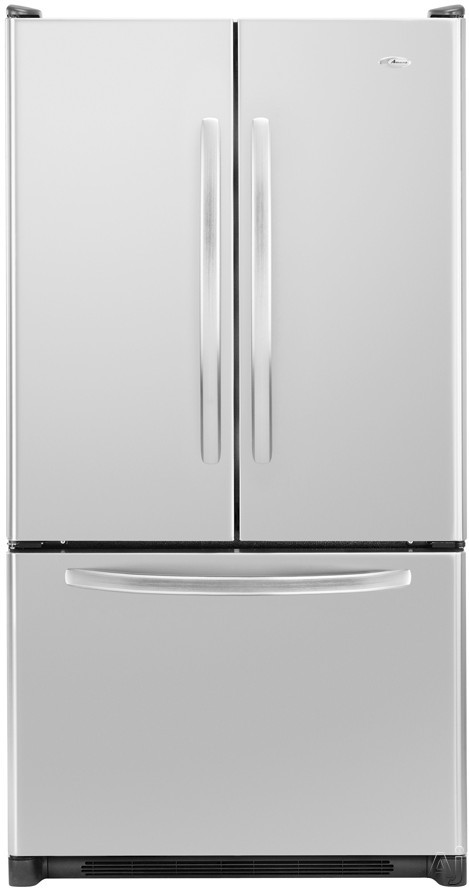 Amana AFF2534FE 24.8 cu. ft. Freestanding French Door Refrigerator with Adjustable SpillSaver Glass Shelves, Humidity-Controlled Crispers and Freezer Baskets