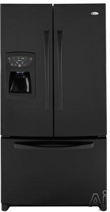 Amana AFI2538AE 25.0 cu. ft. Freestanding French Door Refrigerator with 4 Glass Shelves, Adjustable Door Bins, External Ice/Water Dispenser and Electronic Contr