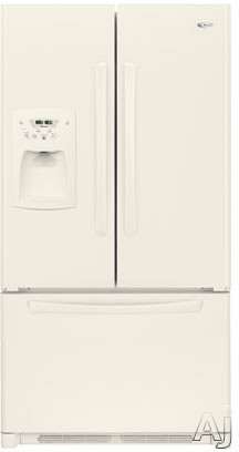 Amana AFI2538AEQ 25.0 cu. ft. Freestanding French Door Refrigerator with 4 Glass Shelves, Adjustable Door Bins, External Ice/Water Dispenser and Electronic Cont