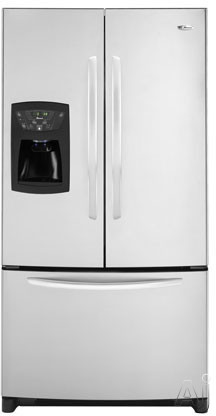Amana AFI2538AES 25.0 cu. ft. Freestanding French Door Refrigerator with 4 Glass Shelves, Adjustable Door Bins, External Ice/Water Dispenser and Electronic Cont