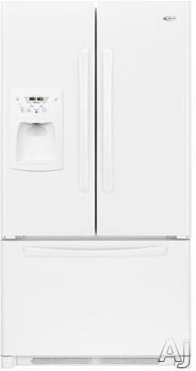 Amana AFI2538AEW 25.0 cu. ft. Freestanding French Door Refrigerator with 4 Glass Shelves, Adjustable Door Bins, External Ice/Water Dispenser and Electronic Cont