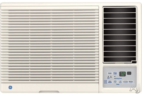 GE 11,600 BTU 230/208 Volt Built-In Room Air Conditioner, AJCQ12DCD. GE thru wall air conditioners offer clean lines, smooth curves and a contemporary design, and are