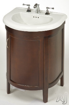 Empire Industries Alexa Collection AL23SC 22 Inch Contemporary Vanity with One Cabinet Door Soft Closing Hinges Fixed U Shaped Shelf Spice Cherry Finish and Sink Not Included
