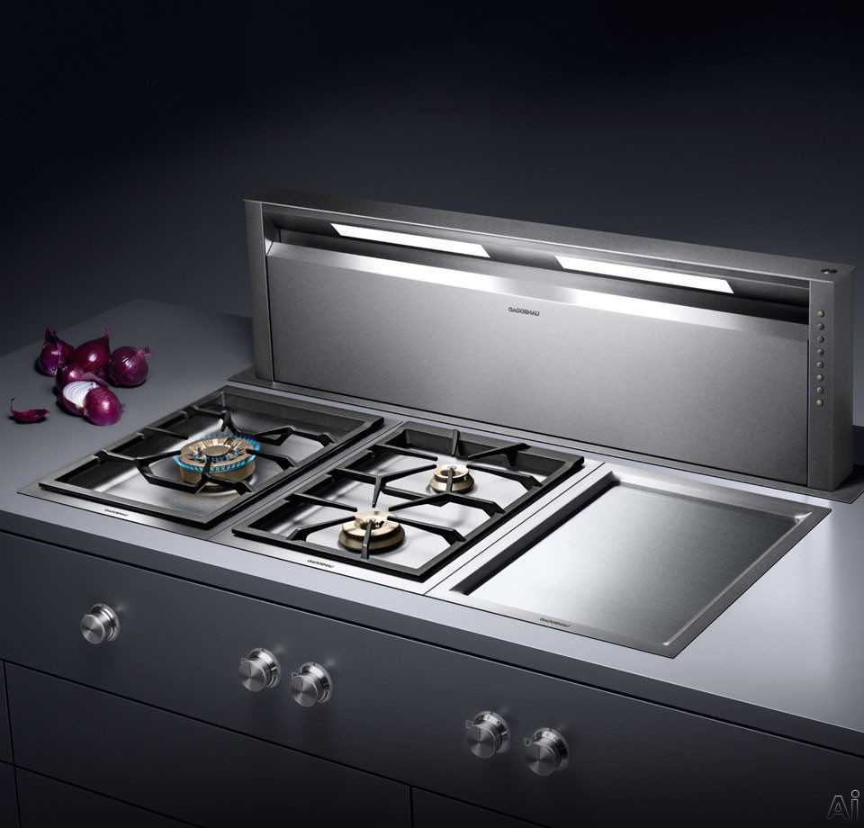 gaggenau al400 downdraft ventilation system with optional blowers 3 fan levels delayed shut. Black Bedroom Furniture Sets. Home Design Ideas