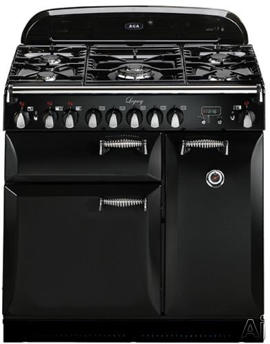 "AGA Legacy ALEG36DFBLK 36"" Pro-Style Dual Fuel Range with 2.2 cu. ft. Convection Oven, 1.8 cu. ft., U.S. & Canada ALEG36DFBLK"