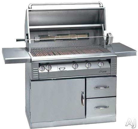 """Alfresco LX2 ALX242SZRFG 42"""" Freestanding Gas Grill with 770 sq. in. Cooking Surface, 82,500 Primary, U.S. & Canada ALX242SZRFG"""