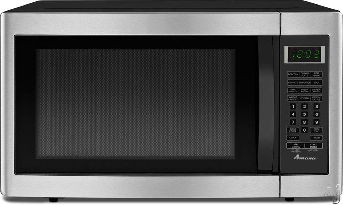 Amana AMC2166AS 1.6 cu. ft. Countertop Microwave with 1200 Cooking Watts, Sensor Cook and Program, U.S. & Canada AMC2166AS
