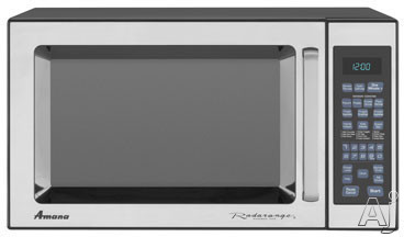 Amana AMC5143AAS 1.4 cu. ft. Countertop Microwave Oven with 1,100 Cooking Watts and 8 Sensor Programmed Pads: Stainless Steel