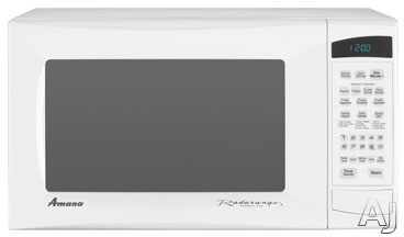Amana AMC5143AAW 1.4 cu. ft. Countertop Microwave Oven with 1,100 Cooking Watts and 8 Sensor Programmed Pads: White