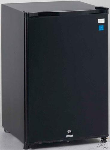Avanti AR4586B 4.5 cu. ft. Compact Refrigerator with Security Door Lock, Recessed Handle, Interior, U.S. & Canada AR4586B