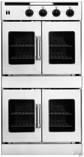 American Range Legacy Series AROFFHGE230 30 Inch Double French Door Dual-Fuel Wall Oven with 4.7 cu. ft. Capacity, Innovection Convection, Manual Clean, Instagrill Broiler and Porcelainized Interior