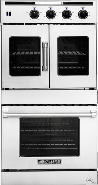 American Range Legacy Series AROFSG230L 30 Inch Double French/Chef Door Gas Wall Oven with 4.7 cu. ft. Capacity, Innovection Convection, Manual Clean, Infrared Broiler, Proofing and Porcelainized Interior: Liquid Propane