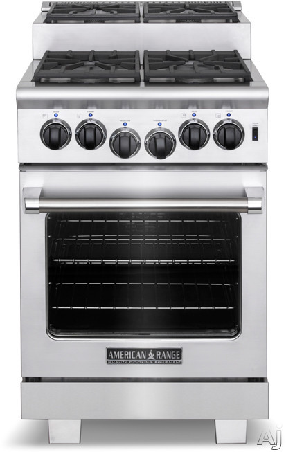 "American Range ARR244IS 24"" Pro Style Step Up Gas Range with 4 Sealed Bu"