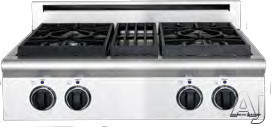 """American Range Legend Series ARSCT304L 30"""" Pro-Style Gas Rangetop with 4 Sealed Burners, Variable Infinite Flame Settings, Commercial Grade Grates and Fail-Safe System: Liquid Propane"""