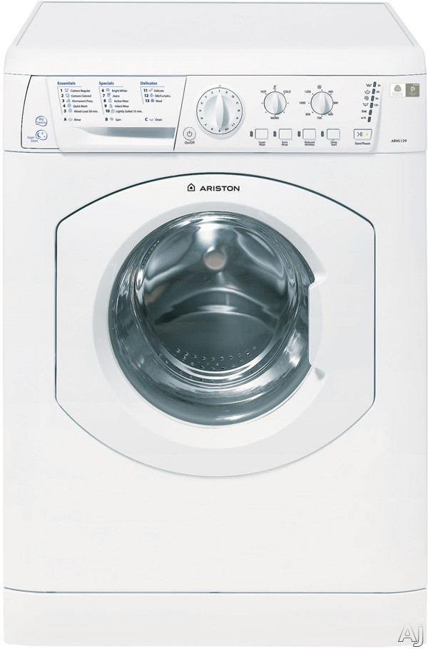Ariston Elegance Line ARWL129NA 24 Inch Front Load Washer with 182 cu ft Capacity 16 Wash Cycles 1 200 RPM Spin Speed Woolmark Platinum Care and LED Interface White