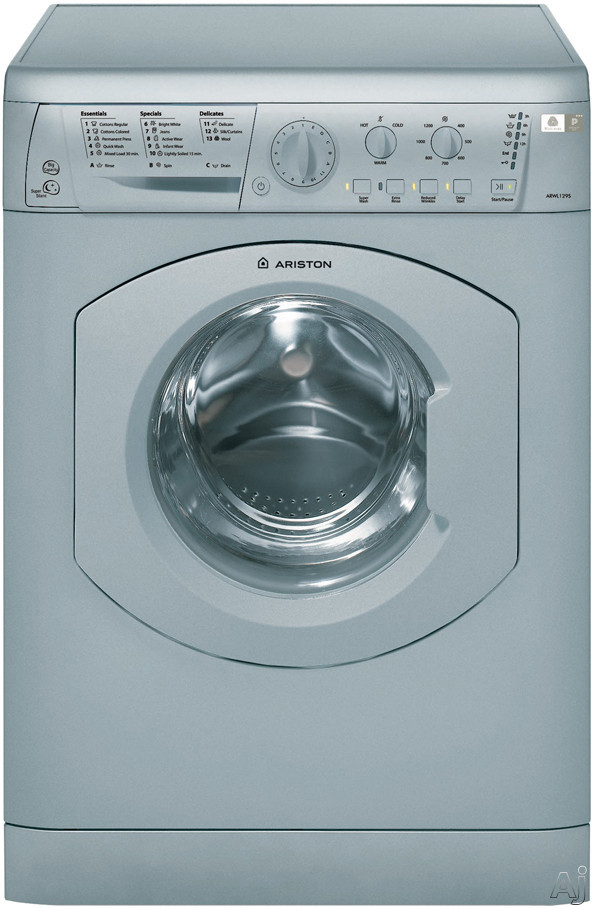 Ariston Elegance Line ARWL129 24 Inch Front Load Washer with 182 cu ft Capacity 16 Wash Cycles 1 200 RPM Spin Speed Woolmark Platinum Care and LED Interface