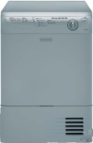 Ariston ASL75CXSNA 24 Inch Ventless Electric Dryer with 180 Reversible Full Metal Door 16 lbs Maximum Load Capacity and 12 Hr Delay Timer