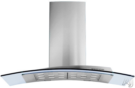 Futuro Futuro Acqualina Series WL36ACQUAGLS Wall Mount Chimney Range Hood with 940 CFM Internal Blower 4 Speed Electronic Controls Easy Open Halogen Lights Tempered Glass Panel and Convertible to Recirculation 36 in Width