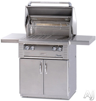 Alfresco LX2 ALX230SZC 30 Inch Freestanding Gas Grill with 542 sq. in. Cooking Surface, Stainless Steel Main Burner, Integrated Rotisserie Motor and Infrared Sear Zone ALX230SZC