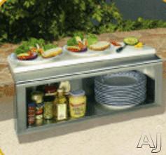 Alfresco APS Built-in Garnish Rail and Plate Shelf