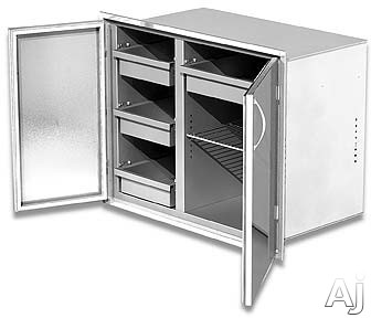 "Alfresco ADSP30H 30"" High Profile Sealed Dry Storage Pantry with 3 Interior Drawers and 2 Adjustable, U.S. & Canada ADSP30H"